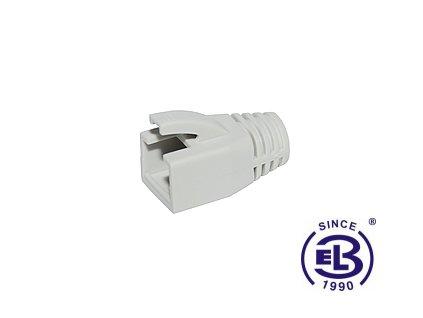 Ochrana RJ45 non-snag-proof pro konektor RJ45 CAT6A STP 8p8c šedá