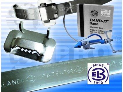 Svorka (spona) pro upínací nerezové řemínky WBI standard š.6,4mm, bal.100ks