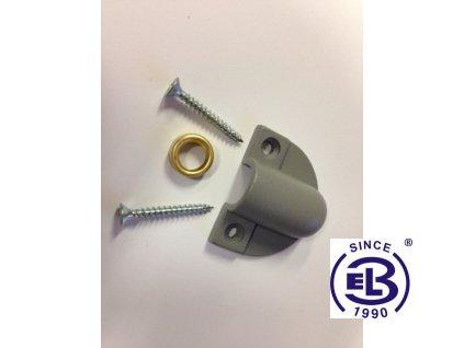 Koncovka pro pancéřovou trubku do oken nebo dveří 10/8mm šedá