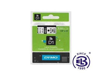 Páska do tiskárny štítků 40913 černý tisk/bílý podklad 7m, 9mm D1 DYMO