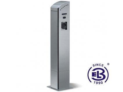Stanice nabíjecí stojanová 1x zásuvka TYP 2 - 7kW, 1x zásuvka TYP 3A - 3,5kW s měřením a FRID* SCAME