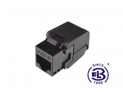 Keystone samořezný Cat6 UTP RJ45 černý SOLARIX