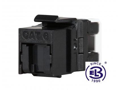 Keystone rychlozařezávací Cat6 UTP RJ45 černý SOLARIX
