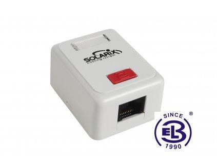 Zásuvka Cat5E UTP 1xRJ45 bílá na omítku SOLARIX