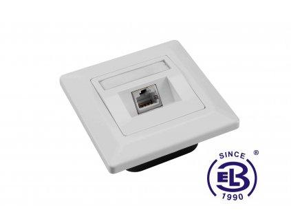 Zásuvka Cat5E STP 1xRJ45 bílá pod omítku SOLARIX