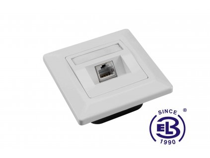 Zásuvka Cat6 STP 1xRJ45 bílá pod omítku SOLARIX