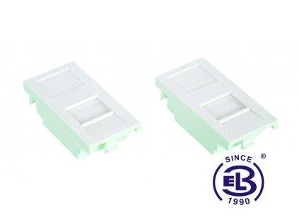 Čelo pro modulární zásuvku SX5 uzavírací bílé SOLARIX 25x50mm