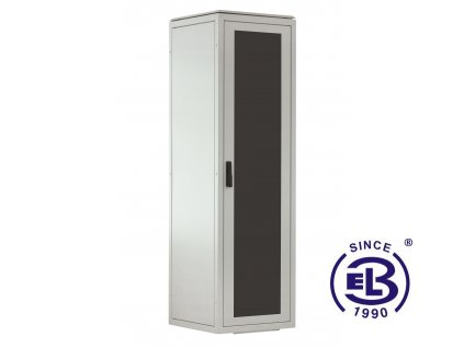 Rozvaděč stojanový LC-06+, 38U, 600x800, šedý, skleněné dveře
