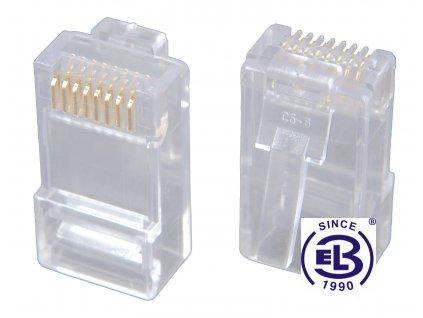 Konektor RJ45 Cat5E UTP 8p8c nestíněný neskládaný na drát KRJ45/5SLD SOLARIX
