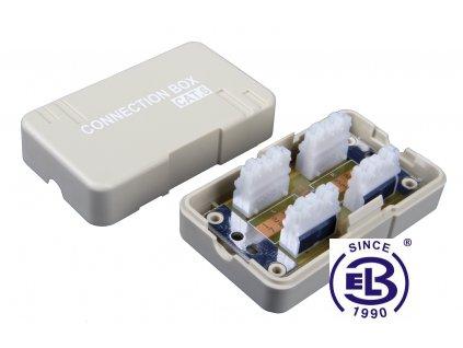 Spojovací box Cat6 UTP 8p8c LSA+/Krone KRJ45-VEB6 SOLARIX