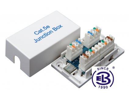 Spojovací box Cat5E UTP 8p8c LSA+/Krone KRJ45-VEB5 SOLARIX