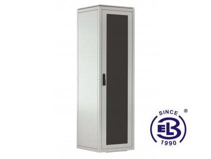 Rozvaděč stojanový LC-06+, 24U, 800x600, šedý, skleněné dveře