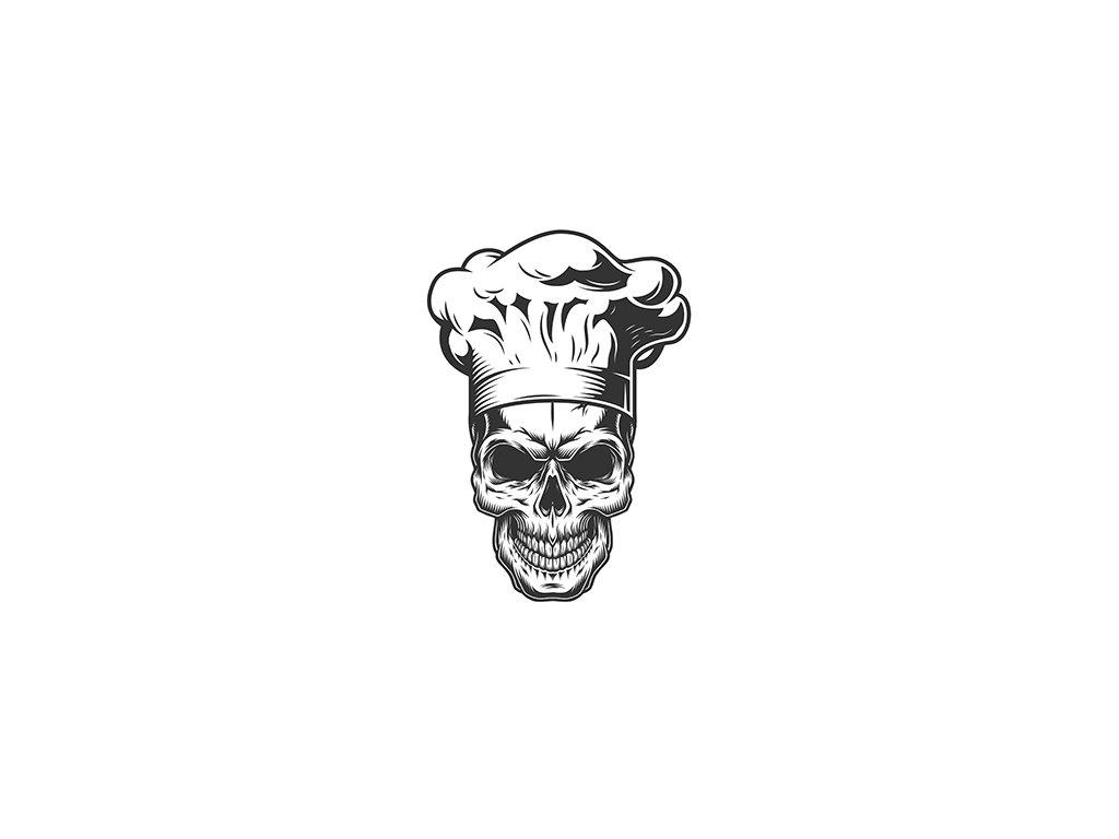 Potisk lebka kuchař