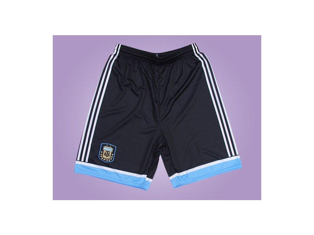 Fotbalové trenky Argentina černé (Velikost 128 cm (4-6 let))