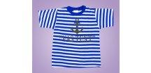 Námořnické tričko kotva s textem (Velikost XXL)