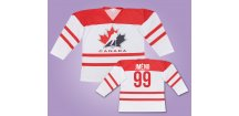 Hokejový dres Kanada bílý s vlastním jménem (Velikost 110 cm (2-3 roky))