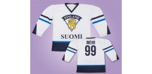 Hokejový dres Finsko bílý vlastní jméno (Velikost XXL)