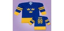 Hokejový dres Švédsko vlastní jméno (Velikost 110 cm (2-3 roky))