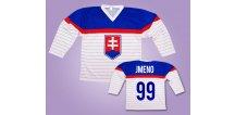 Hokejový dres Slovensko bílý vlastní jméno (Velikost 128 cm (3-5 let))