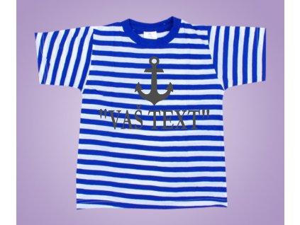 Námořnické tričko kotva s textem