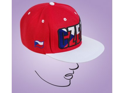 web cap CZ red white