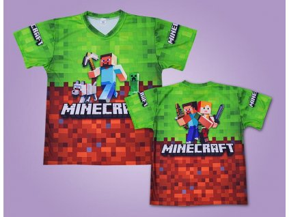 minecraft dres triko