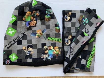 Minecraft čepice s nákrčníkem