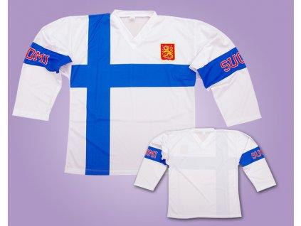 Hokejový dres Finsko bílý (Velikost 110 cm (2-3 roky))