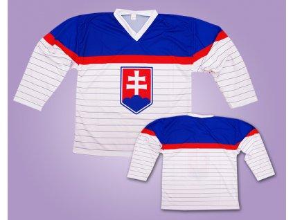 191 hokejovy dres slovakia bily