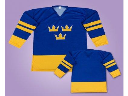 Hokejový dres Švédsko modrý (Velikost 3XL)