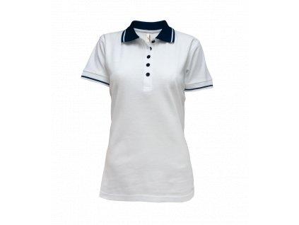 Tričko dámské polo bílé (Velikost XXL)