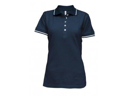 Tričko dámské polo modré (Velikost L)