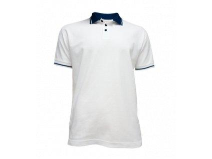 Tričko pánské Polo bílé (Velikost L)