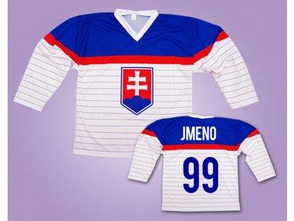 Hokejový dres Slovensko bílý vlastní jméno (Velikost XXXL)