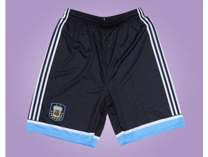 Fotbalové trenky Argentina černé (Velikost XXL)