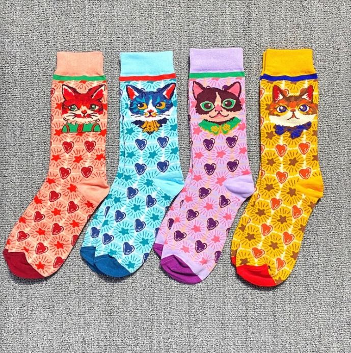 occident-fashion-colorful-print-socks-wo_main-3