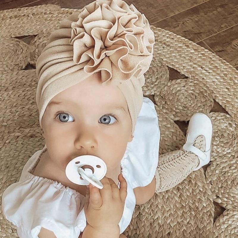 mainimage0Flower-Baby-Hat-Toddler-Turban-6m-18m-Infant-Headwraps-Kids-Bonnet-Newborn-Toddler-Beanie-Cap