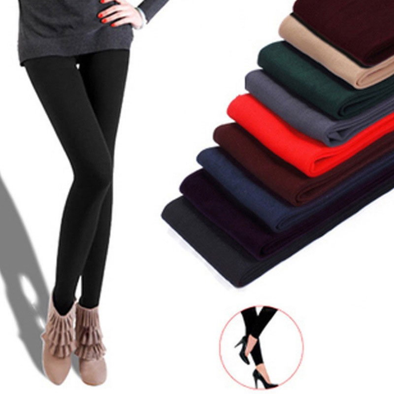 mainimage0Women-winter-warm-leggings-skinny-stretch-fleece-pants-Women-Casual-Faux-Velvet-ankle-length-Legging-Knitted