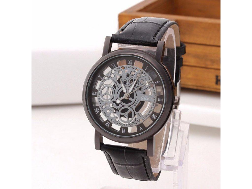 bff36c541 Stylové hodinky Skeleton modré Stylové hodinky Skeleton černé ...