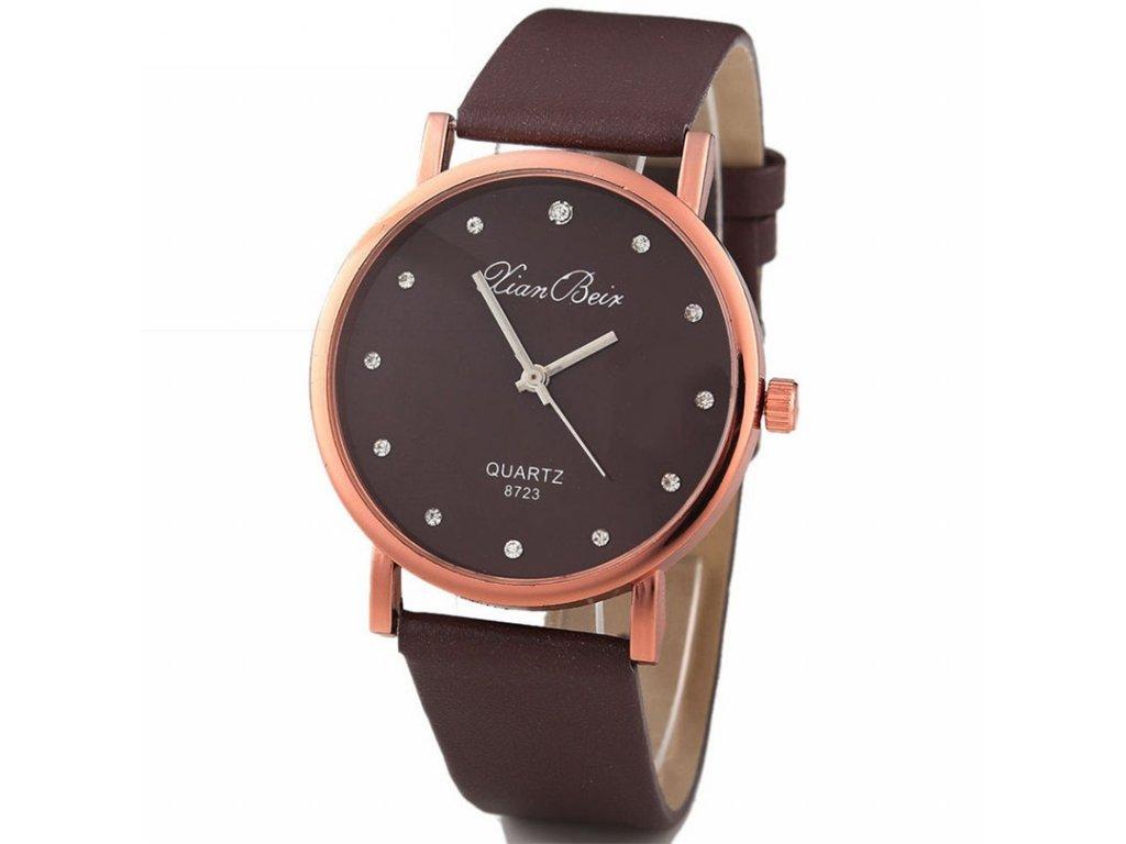 Elegantní dámské hodinky s koženkovým páskem - SLEVA 70% 2572ab1889