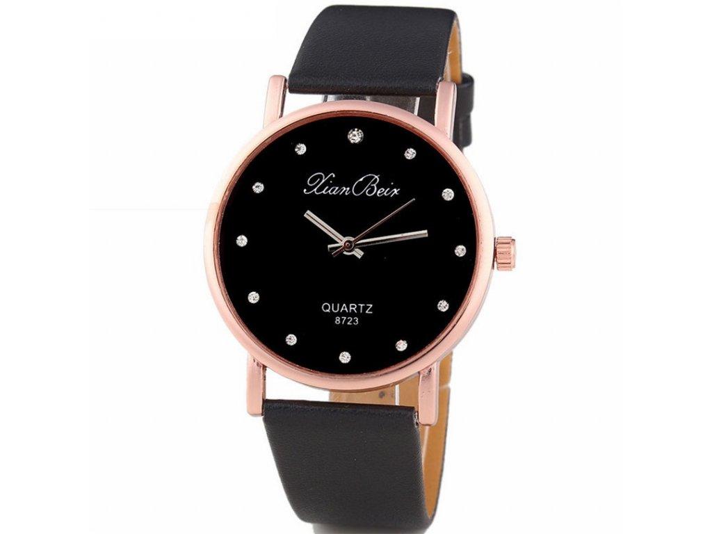 Elegantní dámské hodinky s koženkovým páskem hnědé Elegantní dámské hodinky  s koženkovým páskem černé ... 842f12112e