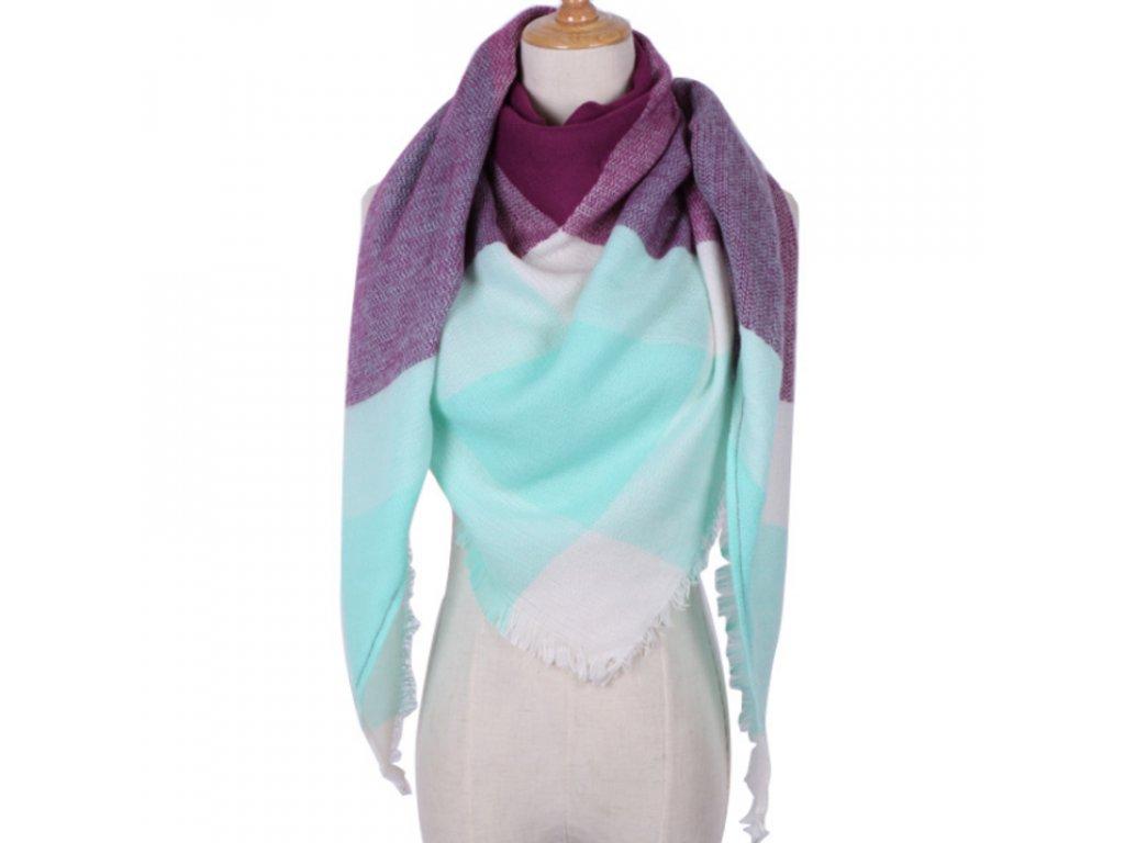 Barevný dámský zimní šátek - SLEVA 70% 06995b10bf
