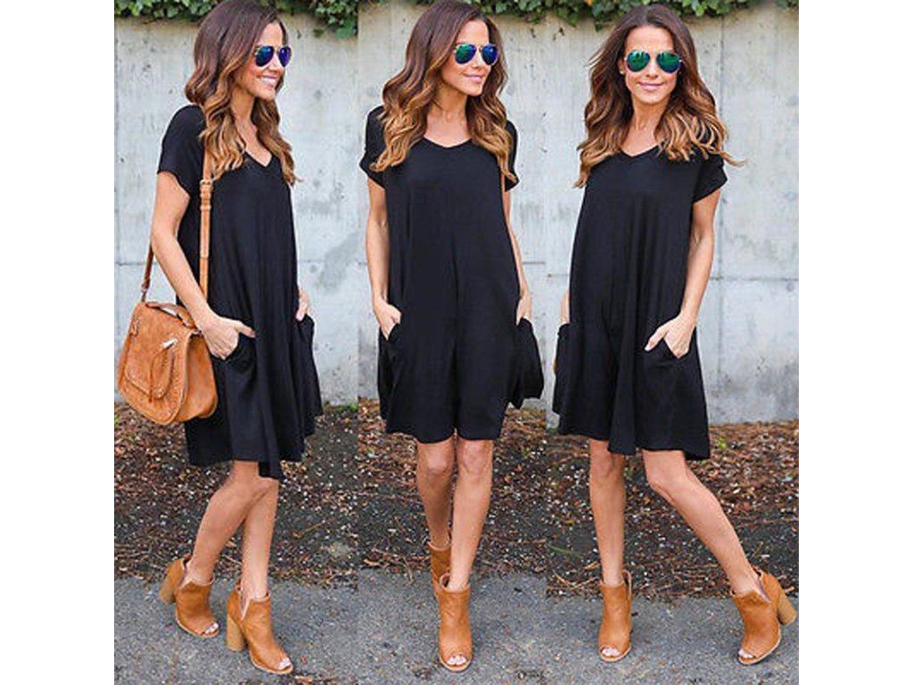 0f580106a5b0 Volné letní dámské šaty - SLEVA 65%