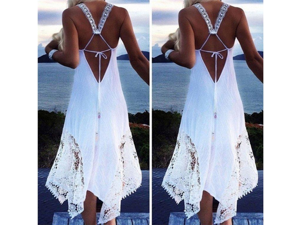 Plážové dlouhé letní šaty - SLEVA 50% - 3SLEVY.CZ b099c38654