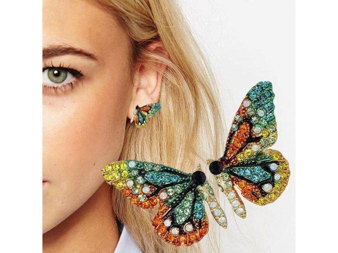 Motýlí náušnice - SLEVA 70%