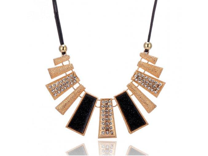 Elegantní dámský náhrdelník černý