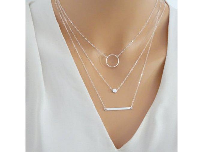 Třívrstvý dámský náhrdelník