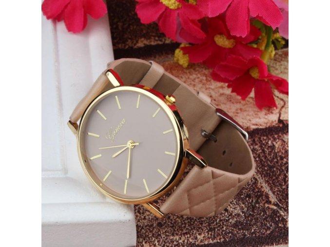 Stylové dámské hodinky hnědé