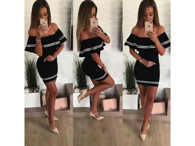 Letní šaty s volánkem - SLEVA 50%