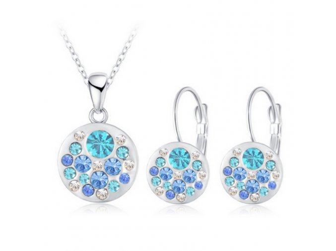 Luxusní dámská sada šperků modrá